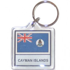 Cayman Islands flag Square key ring