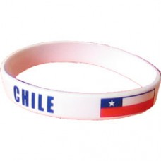 Chile Flag Silicon Bracelet
