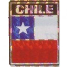 Chile flag 4X3 inch decal