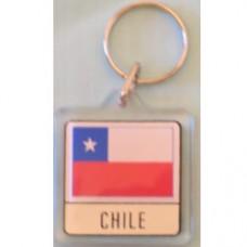 Chile flag Square key ring