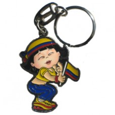Colombia Large Girl key ring