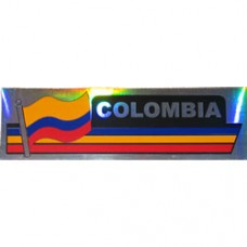 Colombia flag 11.5 inch X 2.5 inch bumper sticker