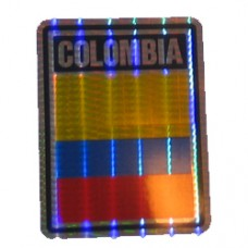 Colombia flag 4 inch X 3 inch decal