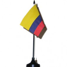 Colombia flag 4 inch X 6 inch desk flag