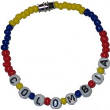 Colombia flag Beaded Bracelet