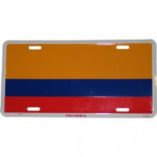Colombia flag License Plate