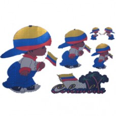Colombia flag Multi-Pack Laser Stickers - BOY DESIGN