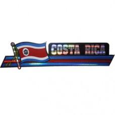 Costa Rica 11.5 inch X 2.5 inch bumper sticker