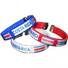 Costa Rica Flag Metal Tip Bracelet