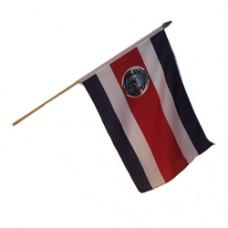 Costa Rica stick flag 12  X 18 inches w/ 24 inch stick