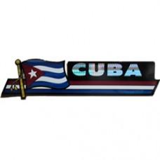 Cuba 11.5 inch X 2.5 inch bumper sticker