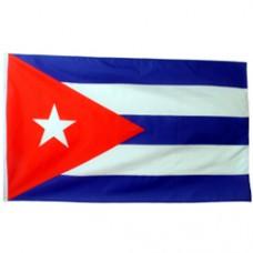 Cuba 2 feet X 3 feet polyester flag