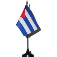 Cuba 4 X 6 inch desk flag