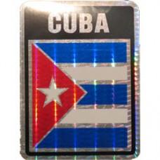 Cuba 4 inch X 3 inch decal
