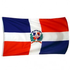 Dominican Republic 3 feet X 5 feet polyester flag