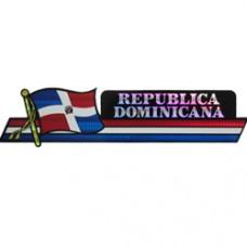 Dominican Republic 11.5 inch X 2.5 inch bumper sticker