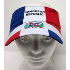 Dominican Republic Flag Sporty Visor