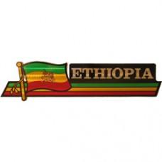 Ethiopia 11.5 inch X 2.5 inch bumper sticker