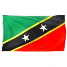 St Kitts Kittitian Boxing Glove Mini Banner Flag Car Rearview Mirror Nevis Map