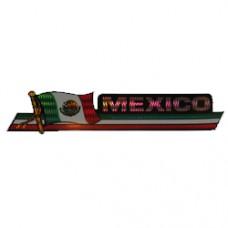 Mexico 11.5 inch X 2.5 inch bumper sticker