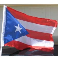Puerto Rico Car Flag  - 12 x 18 - Plastic Clip