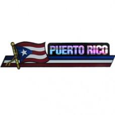 Puerto Rico 11.5 inch X 2.5 inch bumper sticker