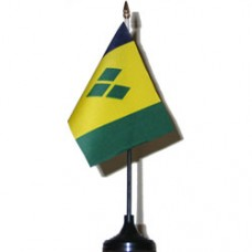 St. Vincent and the Grenadines 4 X 6 inch desk flag