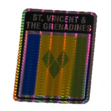 St. Vincent and the Grenadine 4 inch X 3 inch decal