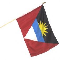 Antigua Barbuda 12X18 polyester flag w/ 24 stick