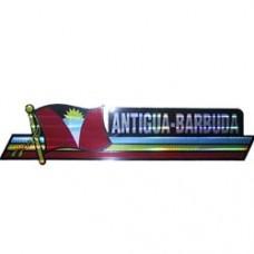 Antigua and Barbuda flag 12X3 inch bumper sticker
