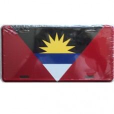 Antigua and Barbuda flag license plate