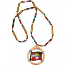 Antigua and Barbuda large beaded flag necklace
